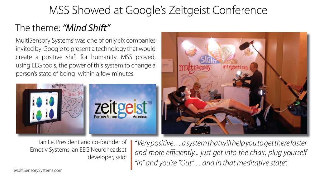 MSS at Google Zeitgeist